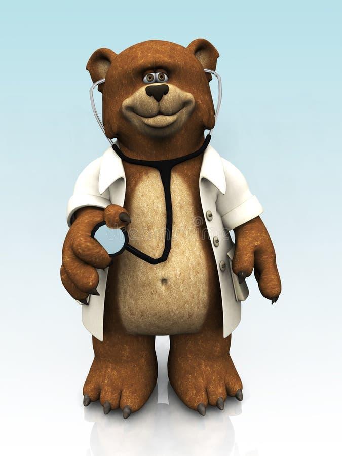 Download Cartoon Bear Dressed As Doctor. Stock Illustration - Image: 9295207