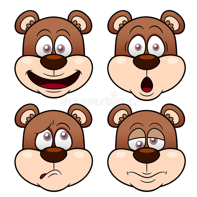 Free Cartoon Bear Face Royalty Free Stock Photo - 29081215