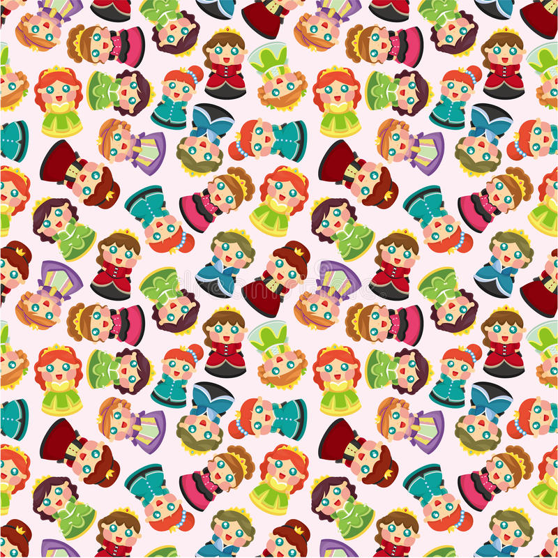 Download Cartoon Beautiful Princess Seamless Pattern Royalty Free Stock Photos - Image: 21209348