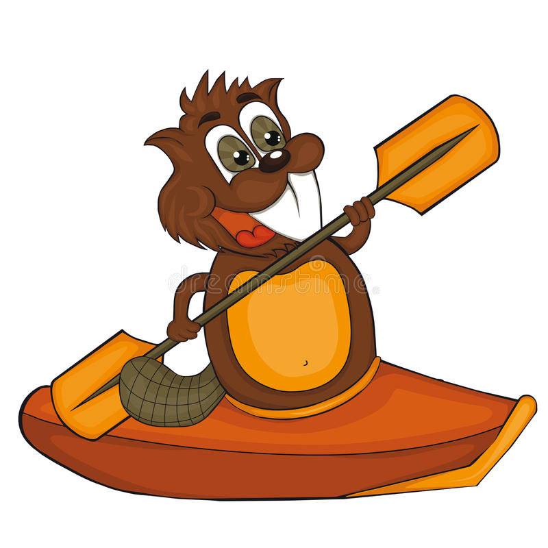 cartoon beaver with canoe vector clip art for children stock rh dreamstime com beaver clipart free clip art beverages
