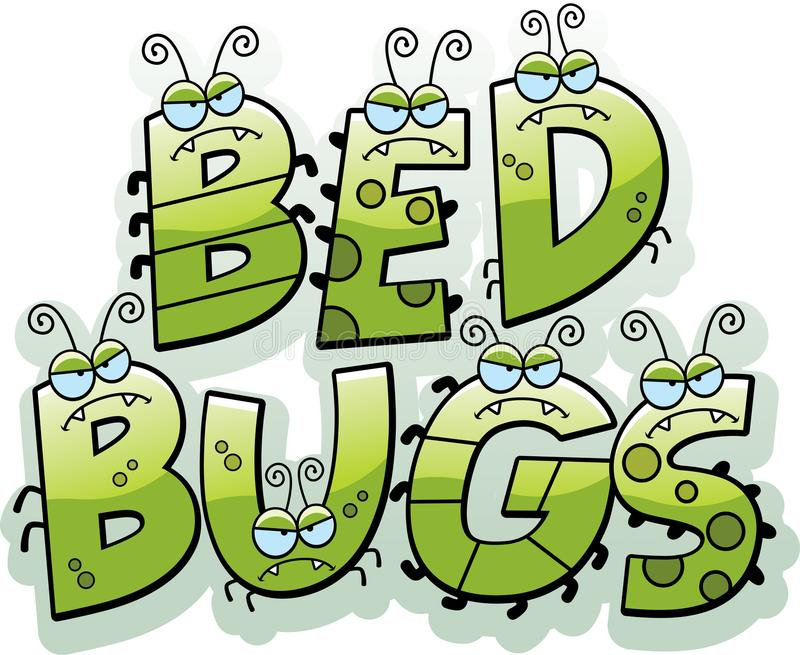 Cartoon Bed Bug Text vector illustration