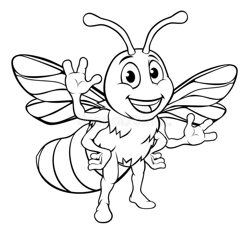 Free Cartoon Bee Character Royalty Free Stock Photo - 111010305