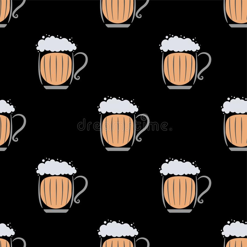 Beer Seamless Pattern Stock Vector Illustration Of Brewery