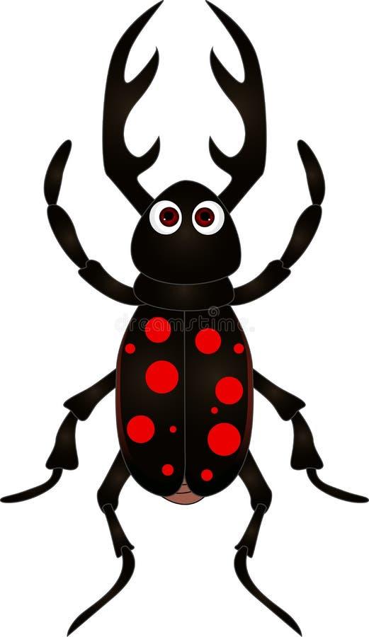 Cartoon Beetle On White Background Stock Photos