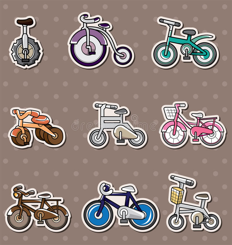 Download Cartoon Bicycle stickers stock vector. Image of cycle - 24551974