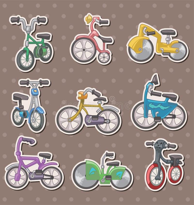 Cartoon Bicycle Stickers Stock Photo