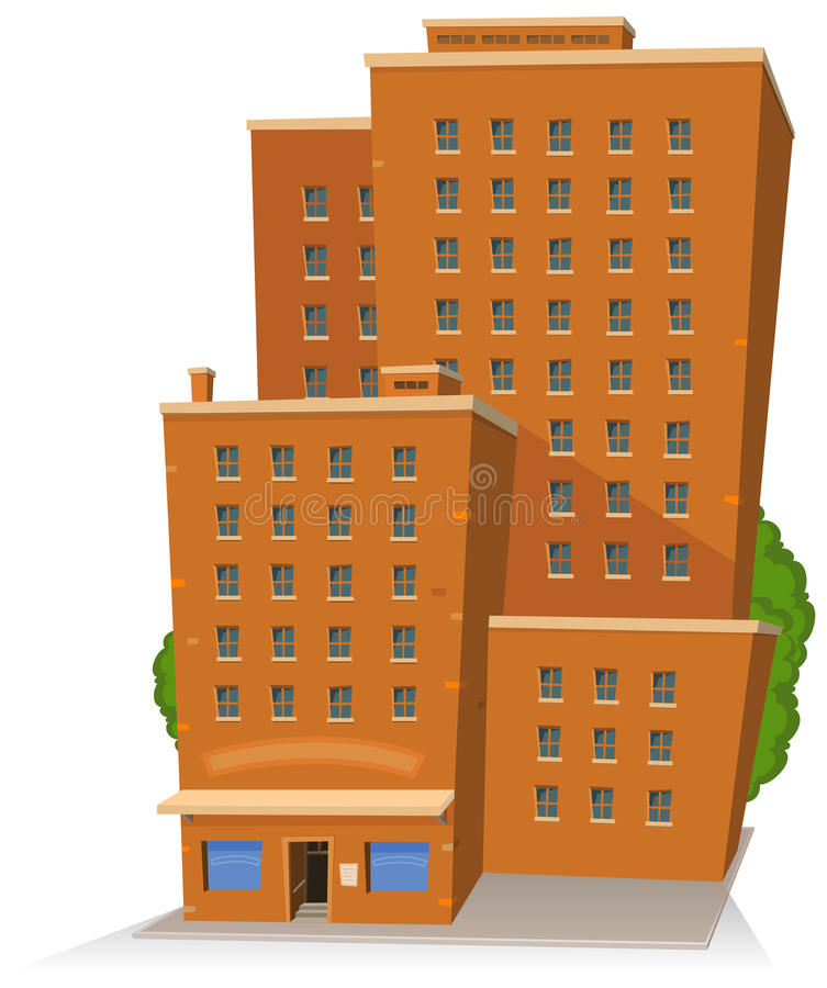 Cartoon Big Building vector illustration