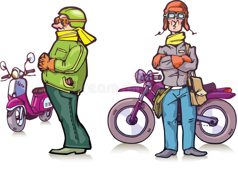 Cartoon bikers stock illustration