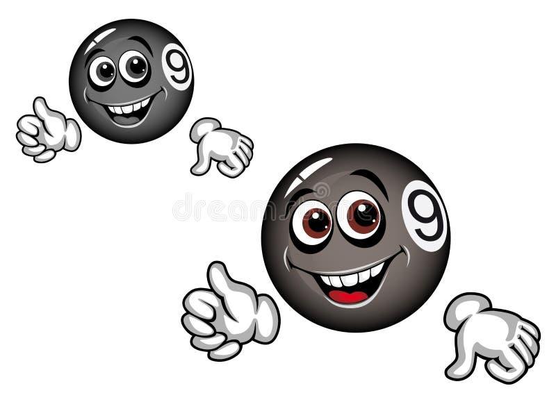 Download Cartoon billiard ball stock vector. Image of pool, eight - 23563872