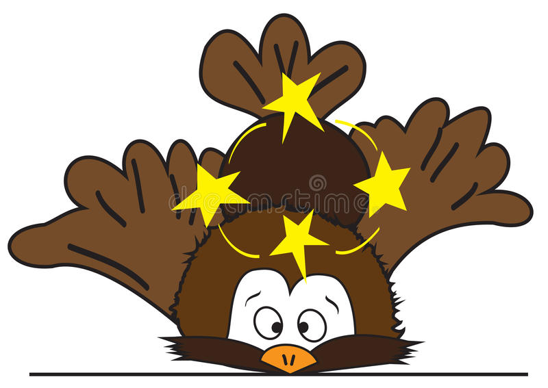 Cartoon bird royalty free illustration