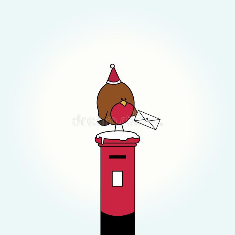 Download Cartoon bird on letter box stock illustration. Image of beauty - 16949681