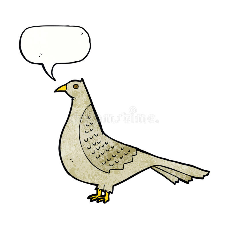 Cartoon bird with speech bubble vector illustration