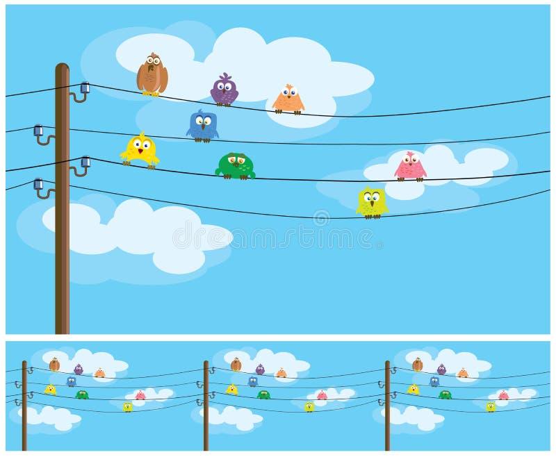 Cartoon birds stock illustration