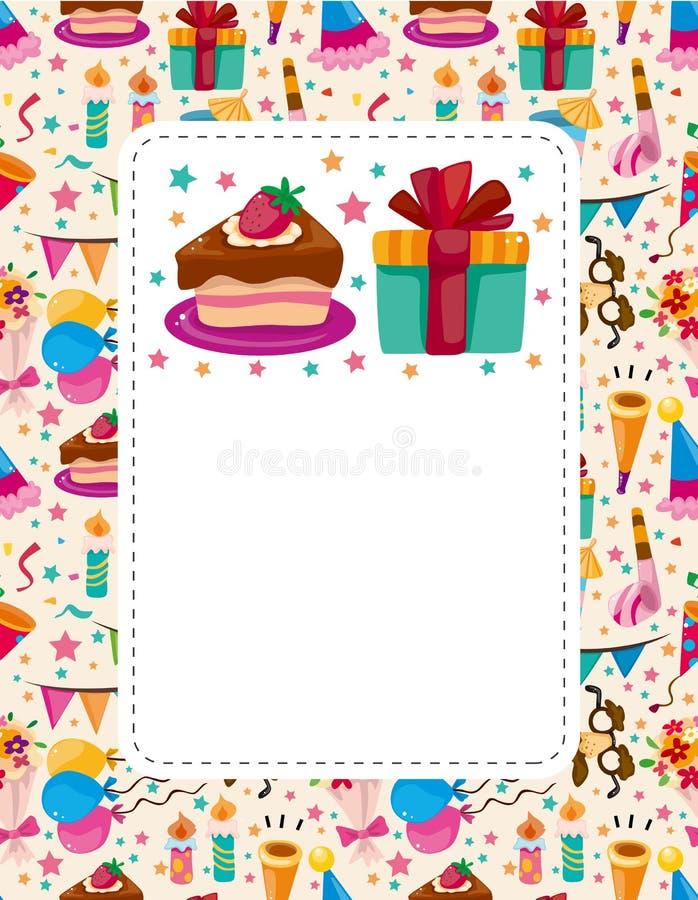 Download Cartoon Birthday Card Stock Photos - Image: 21563643