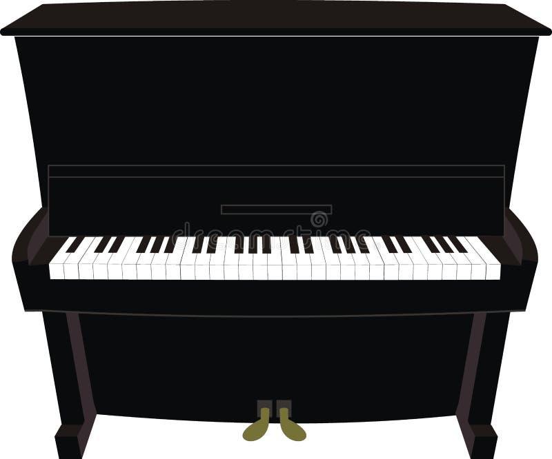 Cartoon black piano royalty free illustration