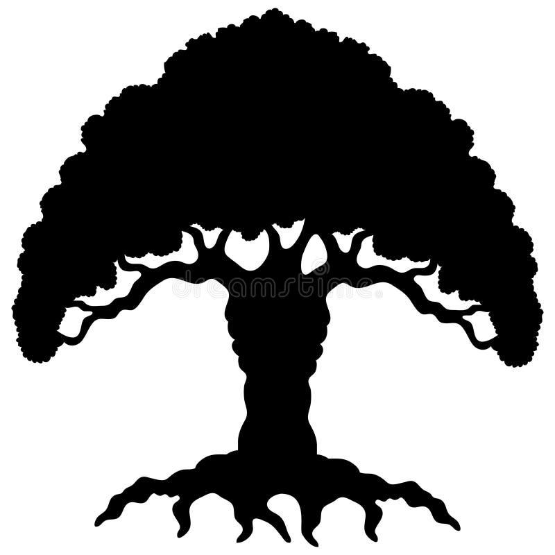 Download Cartoon black tree. stock vector. Illustration of background - 32350043
