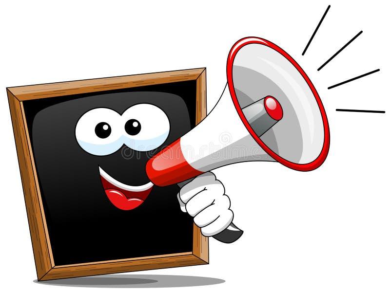 cartoon blackboard speaking megaphone stock vector illustration of rh dreamstime com man with megaphone cartoon megaphone cartoon gif