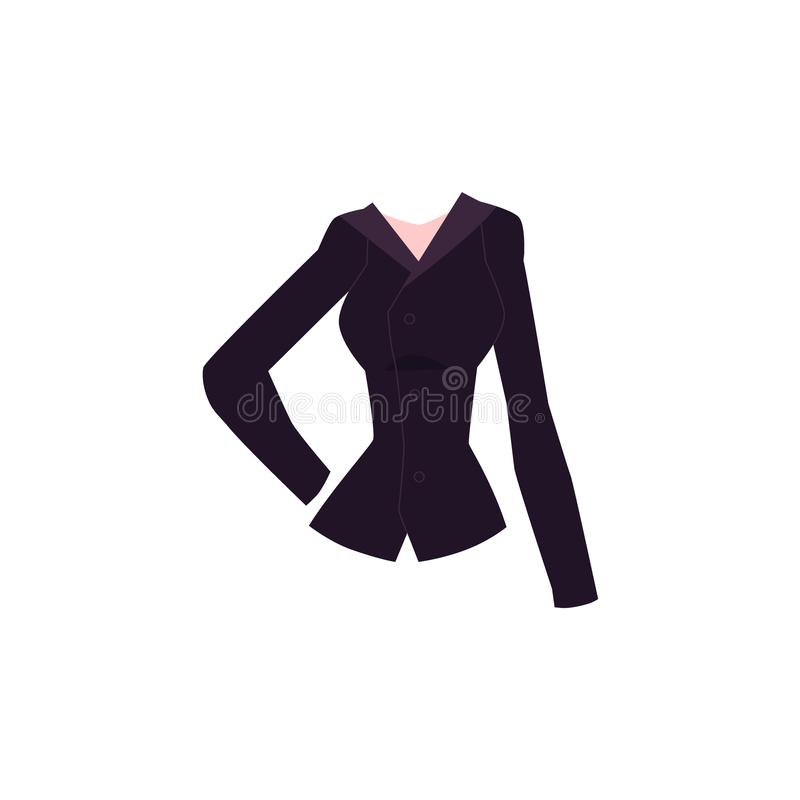 Cartoon blazer with lapel collar and buttons vector illustration