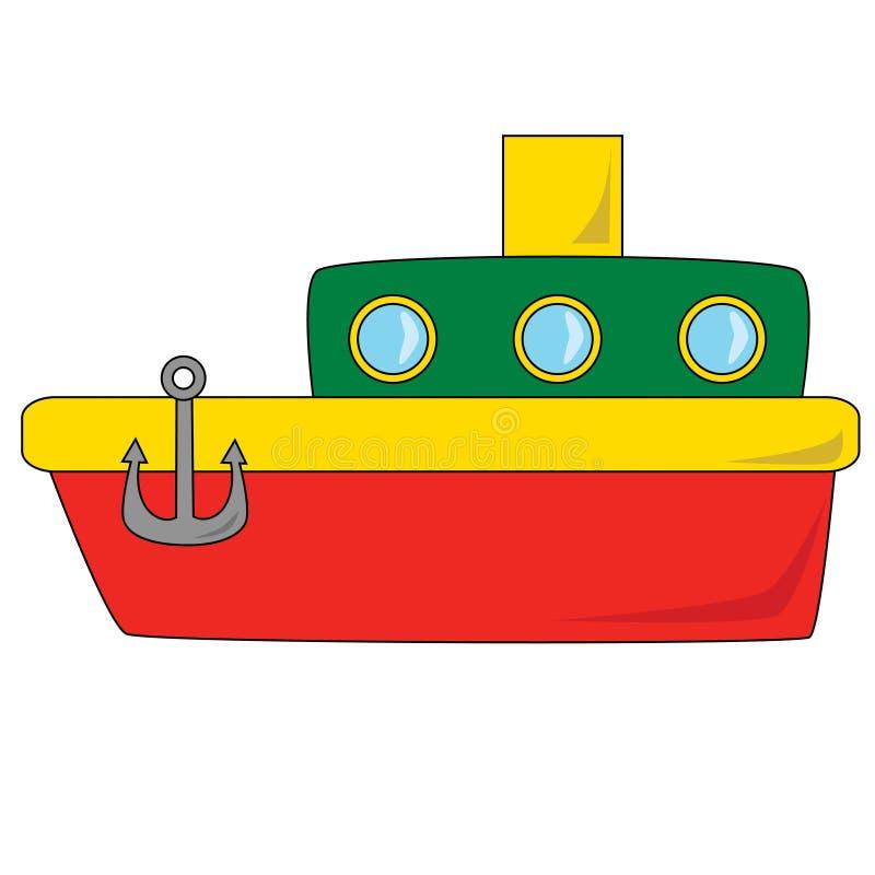 Cartoon Boat vector illustration