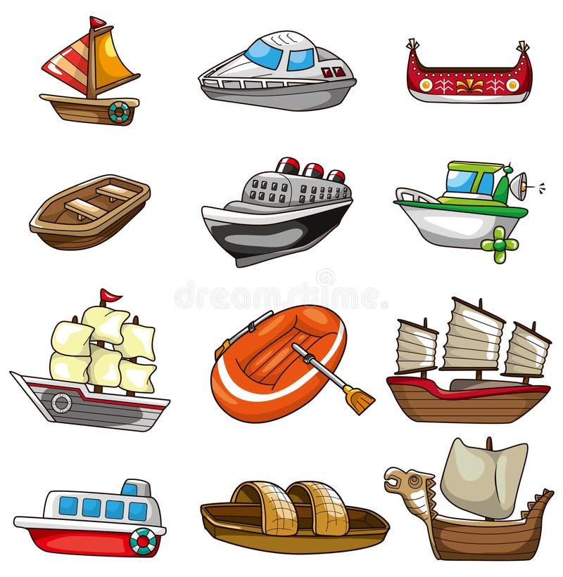 Cartoon Boat Icon Stock Image