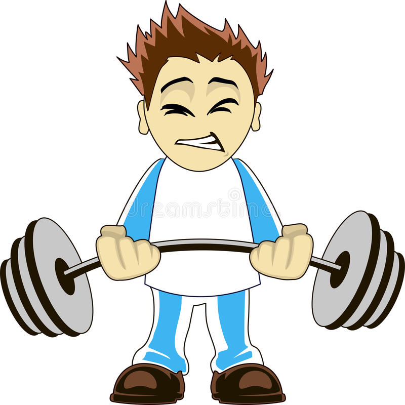 Cartoon bodybuilder stock vector image of deadlift - Cartoon body builder ...