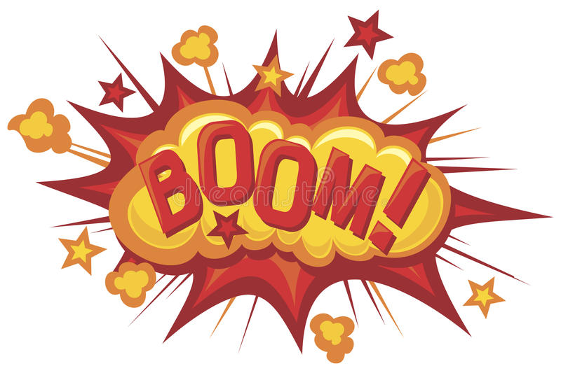Cartoon-boom stock illustration