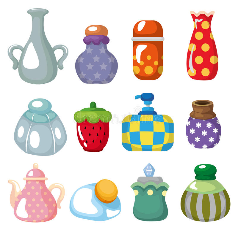 Cartoon bottle icon. Drawing royalty free illustration