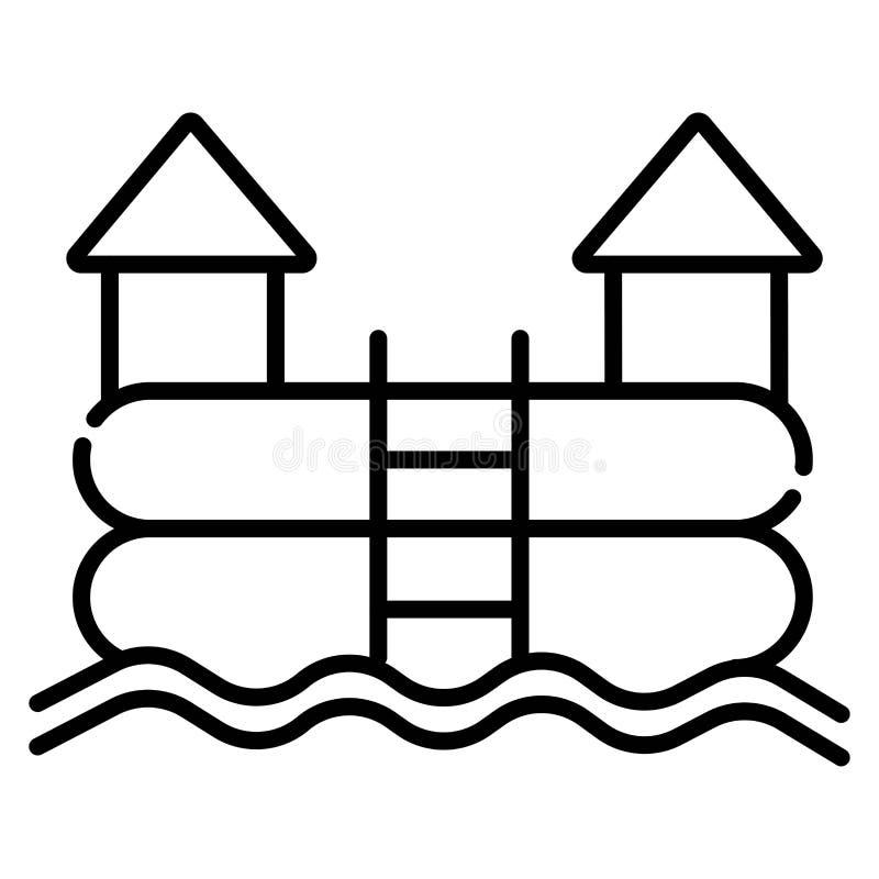Cartoon bouncy castle icon stock illustration