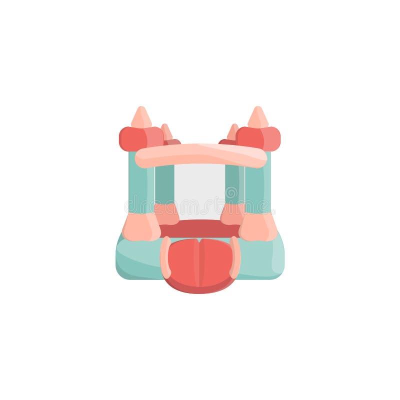 Bouncy castle. Cartoon bouncy castle icon. Isolated vector illustration vector illustration
