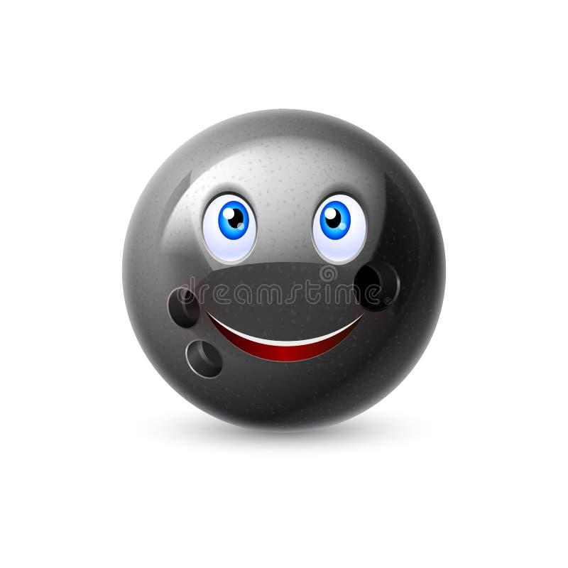 Cartoon bowling ball character royalty free illustration