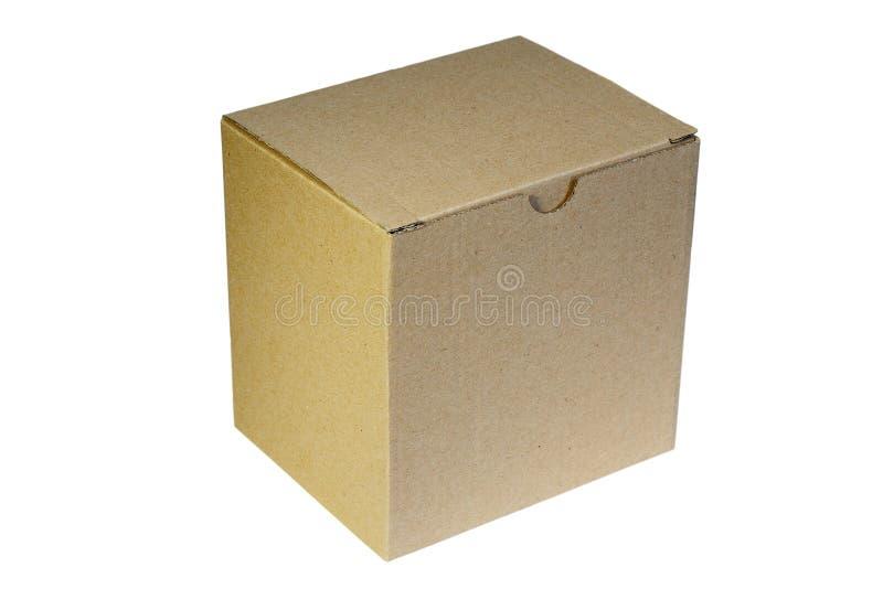 Cartoon box over white background. Simple cartoon box isolated over white background ready for your design stock photo