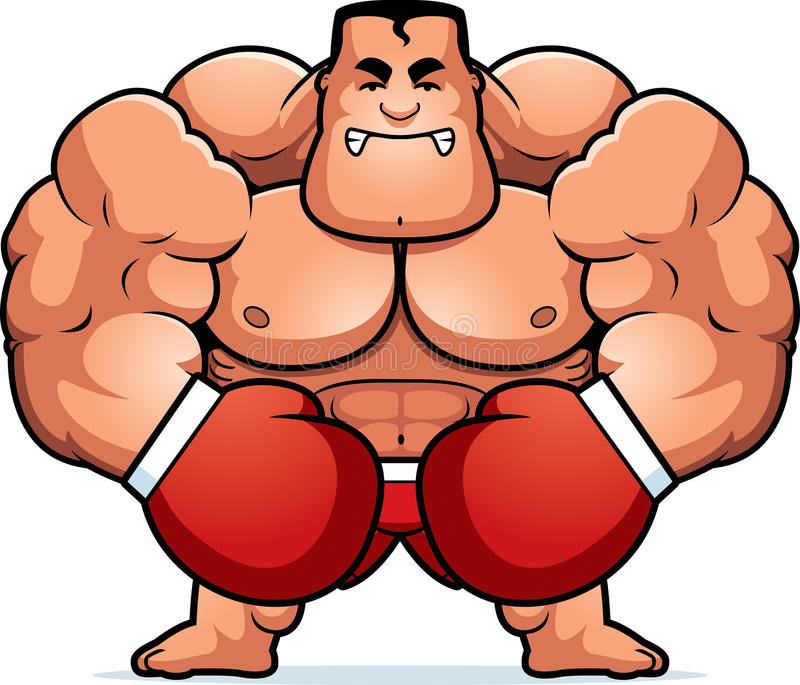 Cartoon Boxer Angry vector illustration