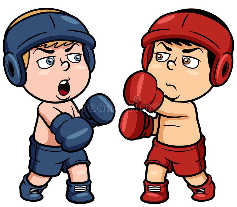 Cartoon boxing vector illustration