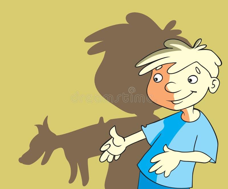 Cartoon boy stock illustration