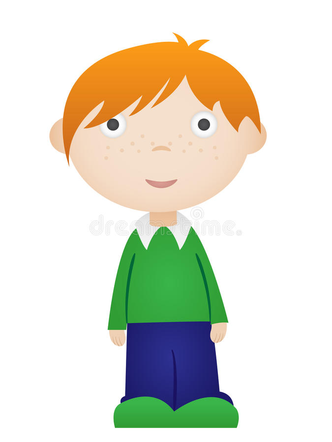 Cartoon boy royalty free illustration