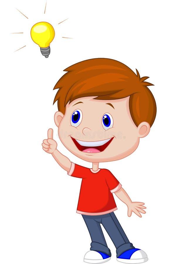 Cartoon boy with big idea stock vector. Illustration of ... (621 x 900 Pixel)