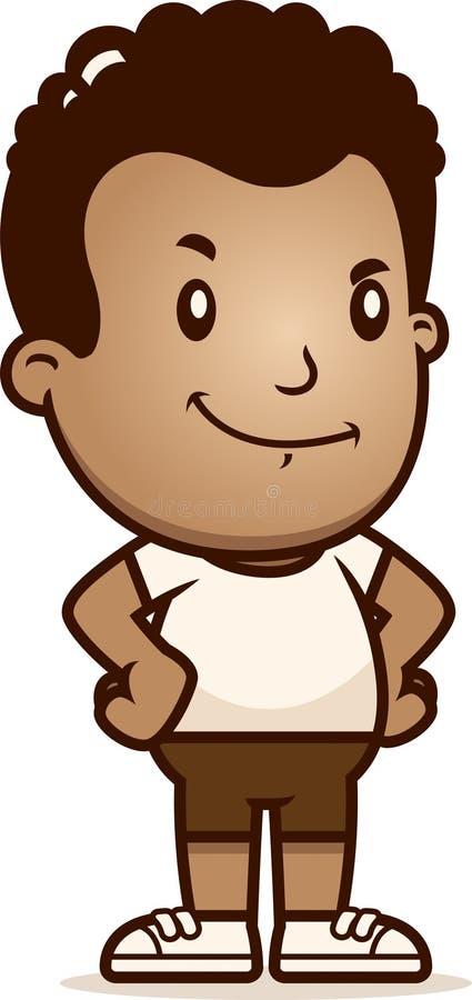 Cartoon Boy Confident. A cartoon illustration of a boy looking confident vector illustration
