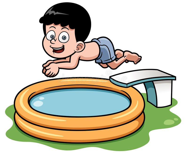 cartoon boy diving in pool stock vector illustration of life 31019266 rh dreamstime com swimming pool cartoon pool cartoon pics