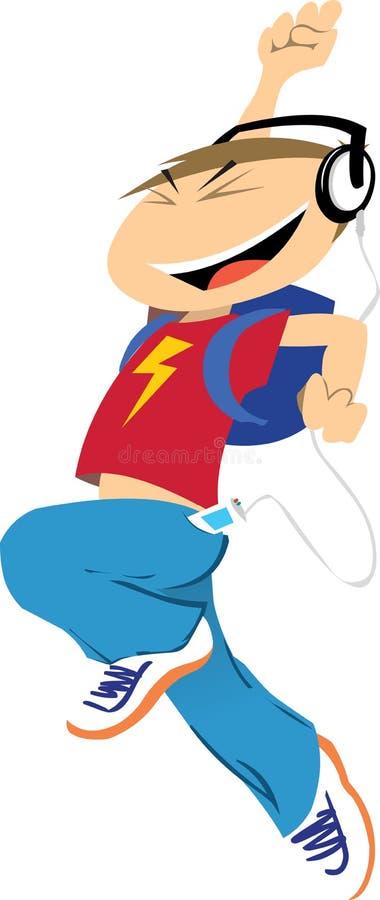 Download Cartoon Boy Jumps for Joy stock vector. Image of winner - 9125749