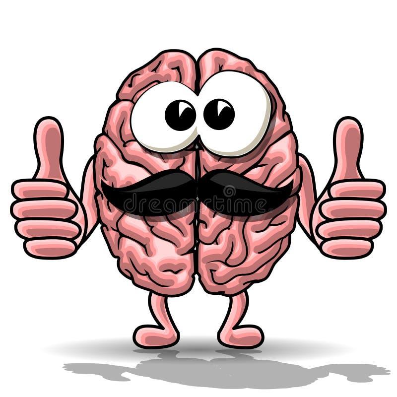 cartoon brain stock vector illustration of mind choice 73390915 rh dreamstime com cartoon brain pics Brain Drawing