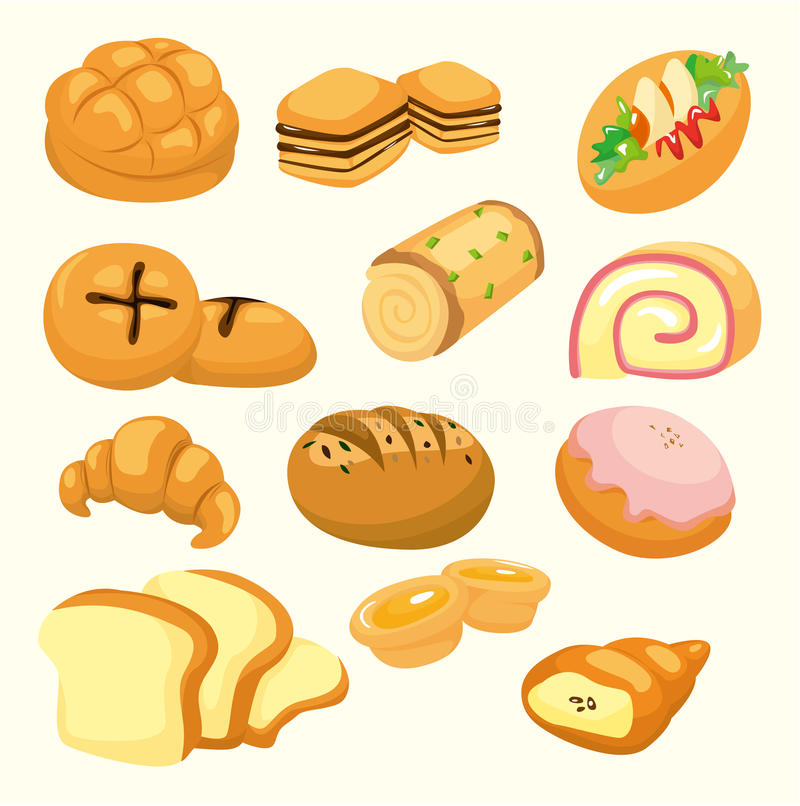 Download Cartoon bread icon stock vector. Image of cartoon, goods - 18488506