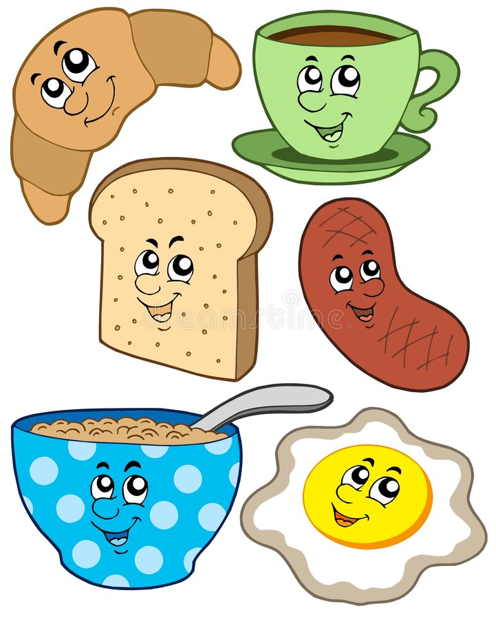 Download Cartoon Breakfast Collection Royalty Free Stock Photo - Image: 9231235