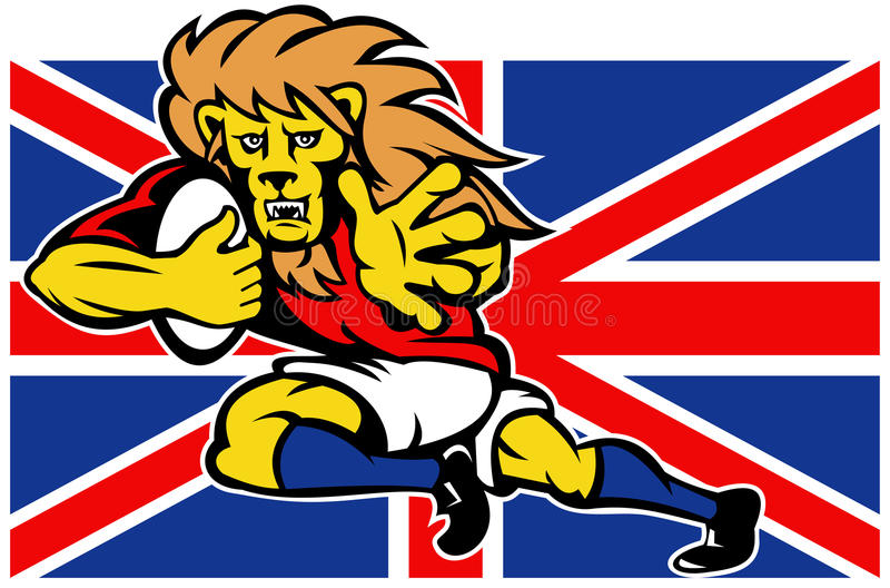 Download Cartoon British Lion Playing Rugby Stock Illustration - Image: 18391869