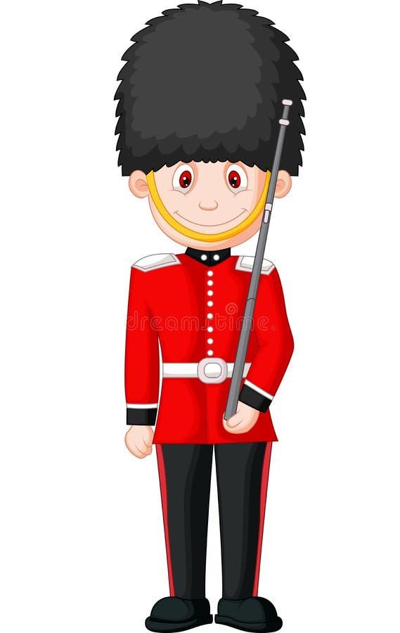 Cartoon a British Royal Guard royalty free illustration
