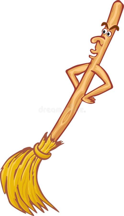 Cartoon broom stock illustration
