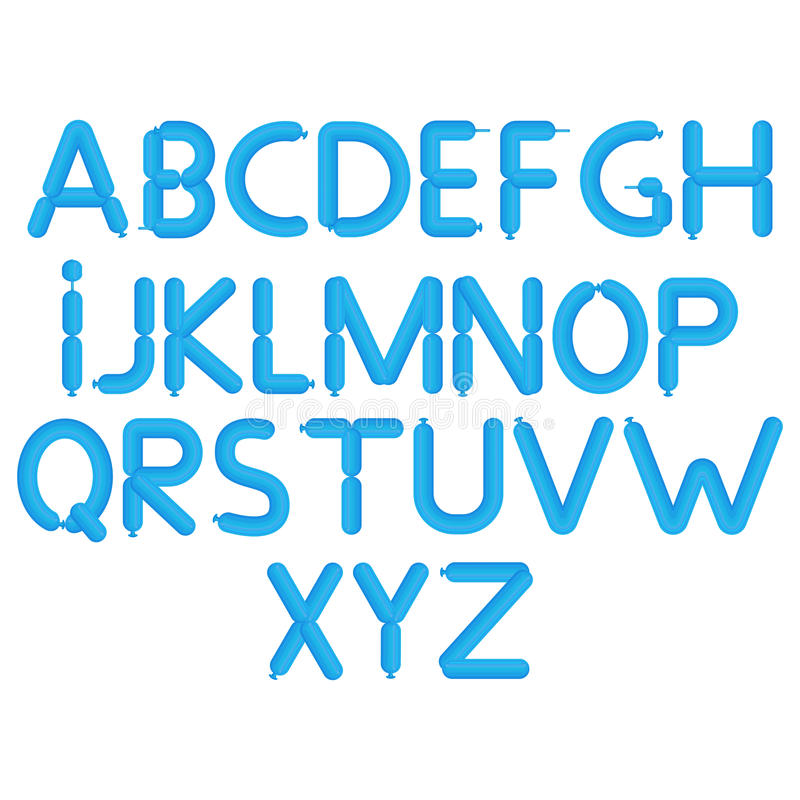 Download Cartoon Bubble Font Colorful Letters With Glint Balloon Alphabet A Through Z Stock