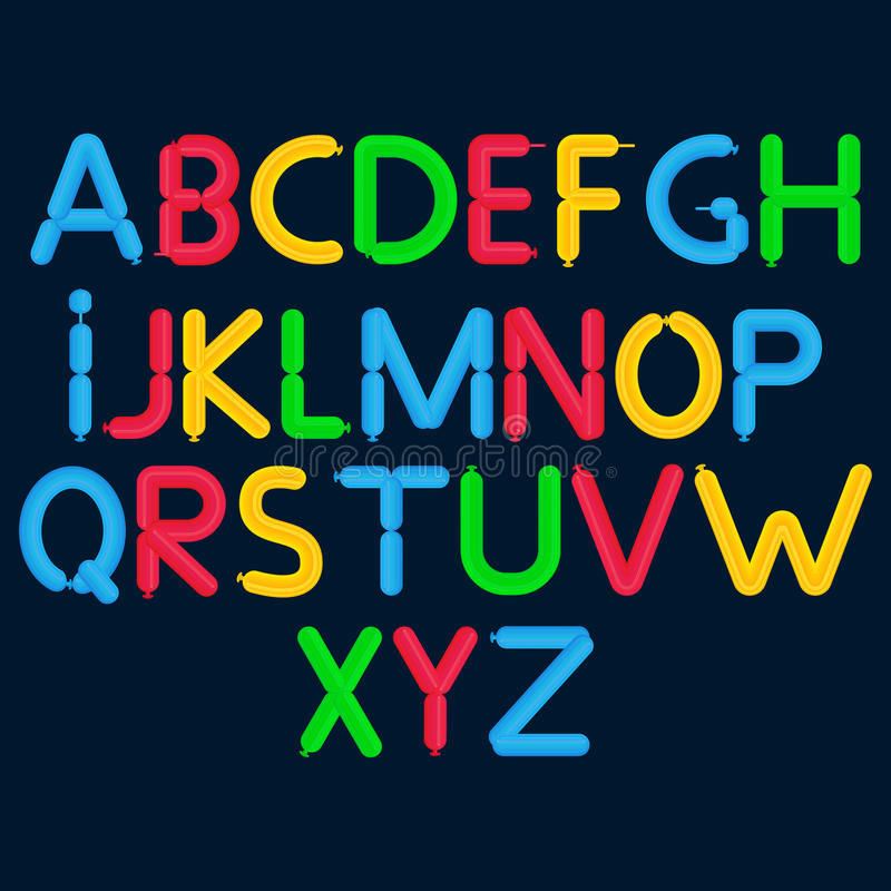 Free Cartoon Bubble Font. Colorful Letters With Glint. Royalty Free Stock Photos - 81782838