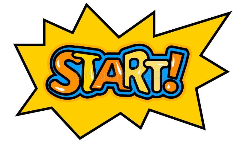 Cartoon Bubble Start Stock Vector Illustration Of Internet 84546646