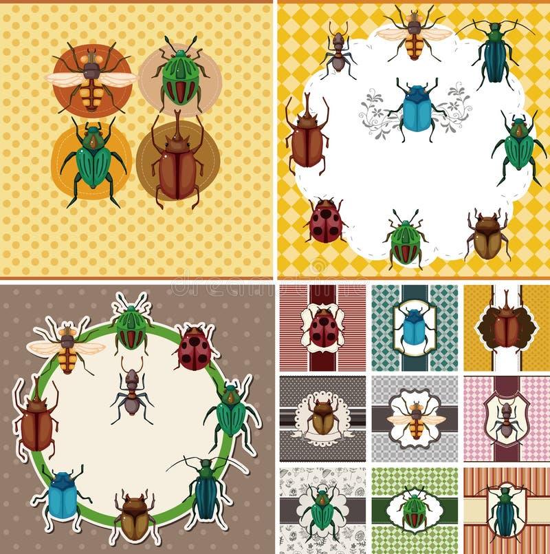 Cartoon bug card. Vector,illustration vector illustration