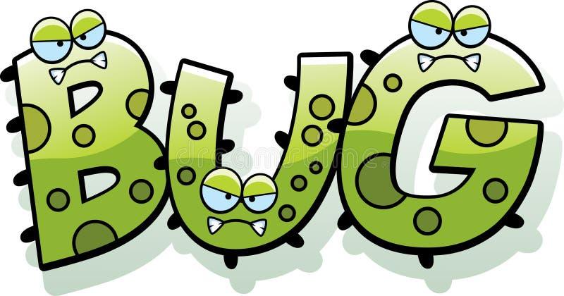 Cartoon Bug Germ Text stock vector. Illustration of angry ... |Flu Bug Cartoons